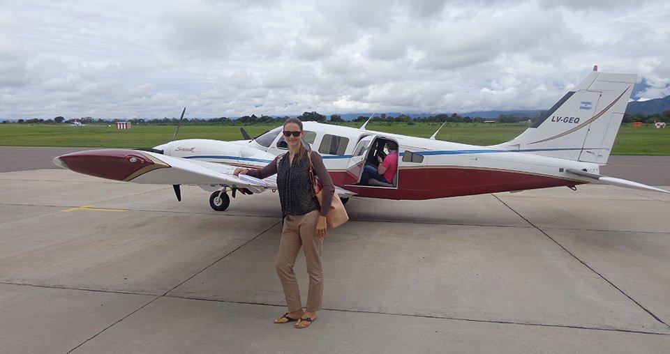 Частный самолет в Аргентине