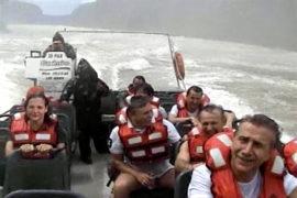 Компания Новатэк и Леонид Михельсон на водопадах Игуасу